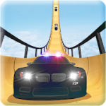 US Police Mega Ramp Car Stunts Racing Cop Driving